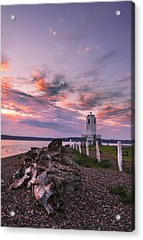 Sunset In Tacoma Acrylic Print