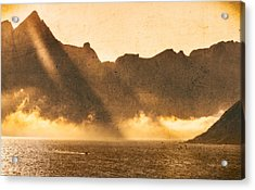 Acrylic Print featuring the photograph Sunset In The Arctic  by Maciej Markiewicz
