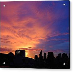 Sunset In The City Acrylic Print
