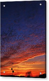 Sunset In The Clouds Acrylic Print by David Pauley