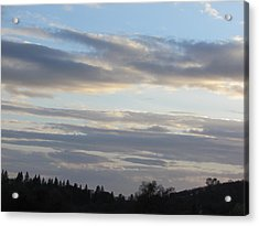 Sunset In The Foothills Acrylic Print by Debra Madonna