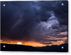 Sunset In The French Alps Acrylic Print