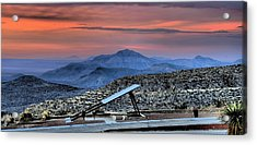 Sunset In The Guadalupes Acrylic Print