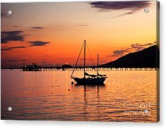Sunset In The Harbor Acrylic Print