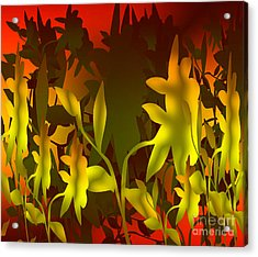 Sunset In The Jungle Acrylic Print by Gayle Price Thomas