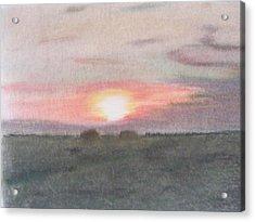 Sunset In The Scottish Borders Acrylic Print