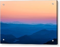 Sunset In The Smoky Mountains 1 Acrylic Print