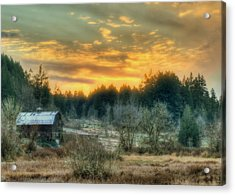 Sunset In The Valley Acrylic Print by Jeff Cook
