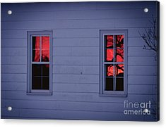Sunset In The Windows Acrylic Print by Cheryl Baxter