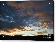 Sunset In Utah Acrylic Print by Delphimages Photo Creations