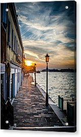 Sunset In Venice Acrylic Print