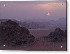 Sunset In Wadi Rum Jordan Acrylic Print by Alison Buttigieg