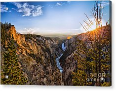 Sunset In Yellowstone Grand Canyon Acrylic Print