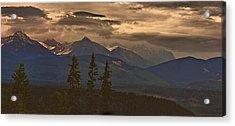 Sunset In Yoho Acrylic Print by Janet Ashworth