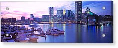 Sunset, Inner Harbor, Baltimore Acrylic Print