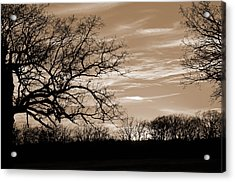 Sunset Is Sepia  Acrylic Print