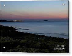 Sunset Island Acrylic Print by Francesco Zappala
