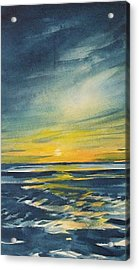Acrylic Print featuring the painting Sunset by Jane See
