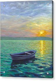 Sunset Acrylic Print by Joe Maracic