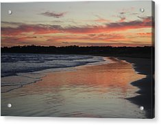 Acrylic Print featuring the photograph Sunset Kissing Shore II by Amanda Holmes Tzafrir