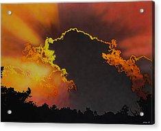 Sunset Acrylic Print by Konstantinos-Pimba Botas