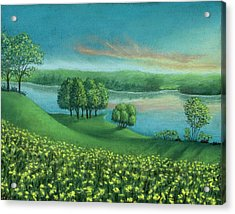 Sunset Lake A Acrylic Print