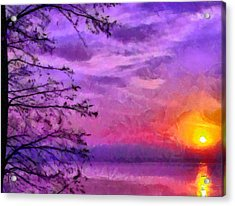 Sunset Lake Acrylic Print by Anthony Caruso