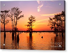 Sunset Lake In Louisiana Acrylic Print