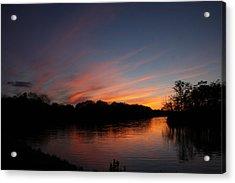 Sunset Lake Williams Acrylic Print