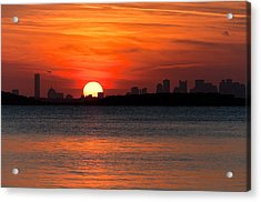Sunset Landing Acrylic Print by Lee Costa