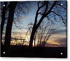 Acrylic Print featuring the photograph Sunset 1 by Larry Campbell