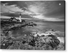 Sunset Lighthouse Acrylic Print by Jon Glaser