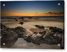 Sunset - Lincoln Beach Acrylic Print by Tin Lung Chao
