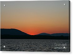Sunset Lines Of Lake Umbagog  Acrylic Print