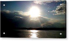 Acrylic Print featuring the photograph Sunset by Lucy D