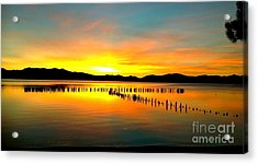 Sunset Acrylic Print by Marguerite Spieker