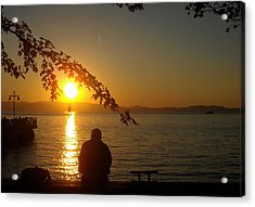 Sunset Meditation Acrylic Print