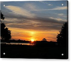 Acrylic Print featuring the photograph Sunset Mellow Love  by Joetta Beauford