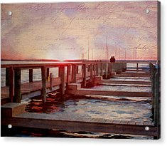 Sunset Memories From Chincoteague Acrylic Print by Julia Springer
