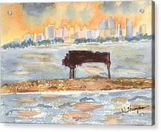 Sunset Miami Piano Bar  Acrylic Print