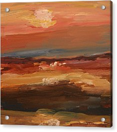 Acrylic Print featuring the painting Sunset by Michael Helfen