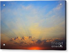 Sunset Acrylic Print by Mohamed Elkhamisy