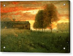 Sunset, Montclair, 1892 Acrylic Print by George Snr. Inness