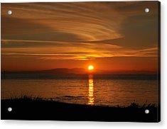 Sunset Mood Acrylic Print by Sabine Edrissi