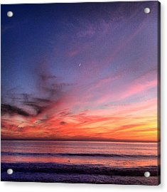 Sunset Moon Rise Acrylic Print
