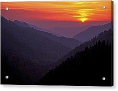 Sunset Morton Overlook Acrylic Print