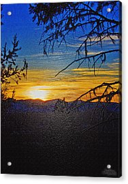 Acrylic Print featuring the photograph Sunset Mountain To Mountain by Janie Johnson