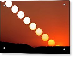 Sunset Multiple Exposure Acrylic Print by Dr Juerg Alean