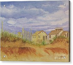 Sunset Nantucket Beach Acrylic Print by Carol Flagg