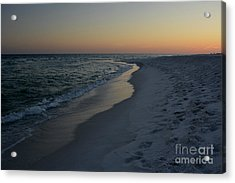 Sunset Navarre Beach Acrylic Print